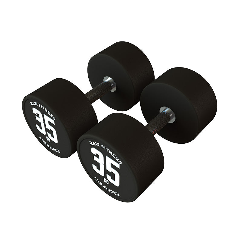 DUMBBELL – CPU ROUND 35KG PAIR - RAW Fitness Equipment
