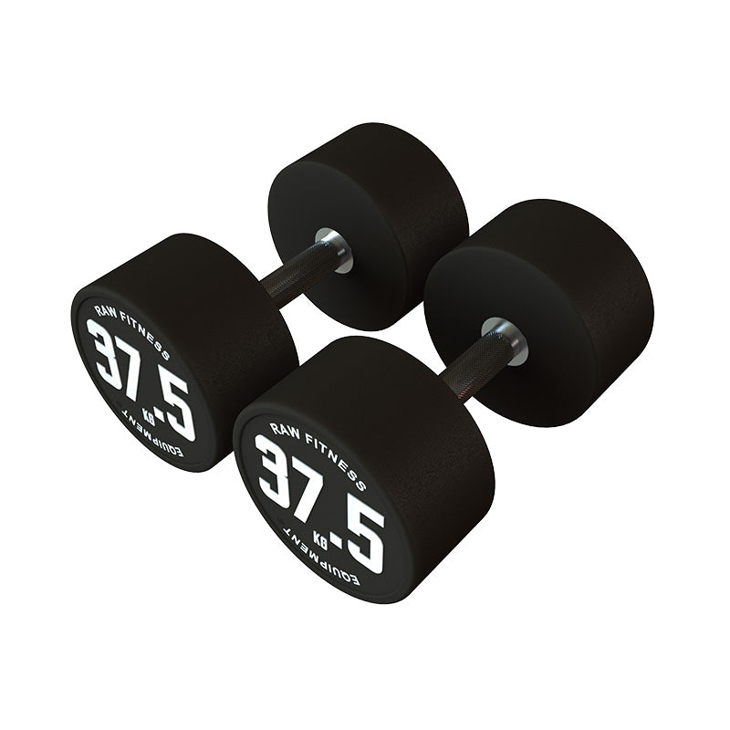 Dumbbell CPU Round - 37.5KG Pair - RAW Fitness Equipment