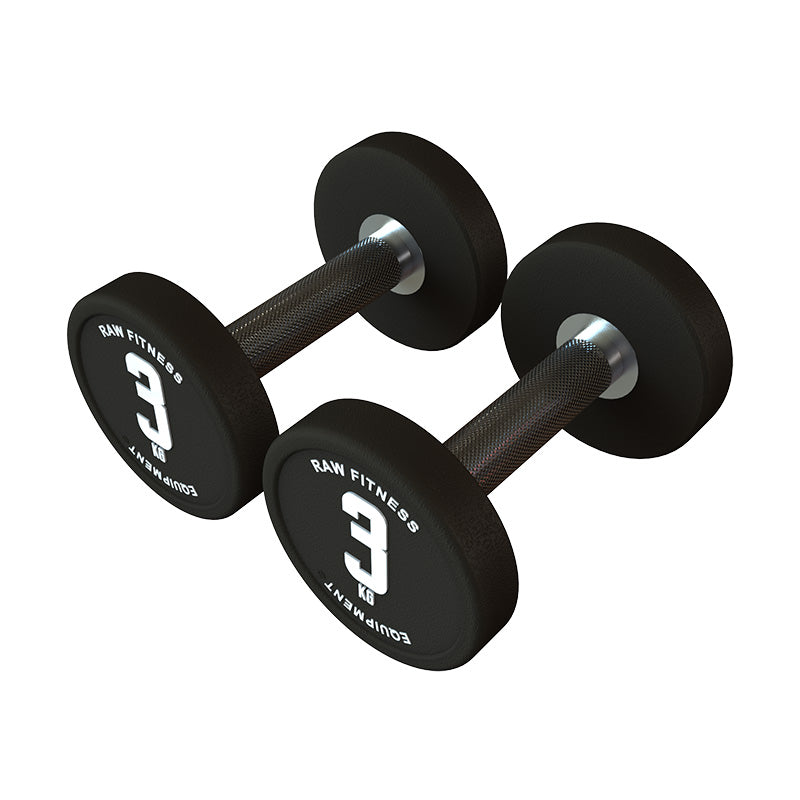 DUMBBELL – CPU ROUND 3KG PAIR - RAW Fitness Equipment