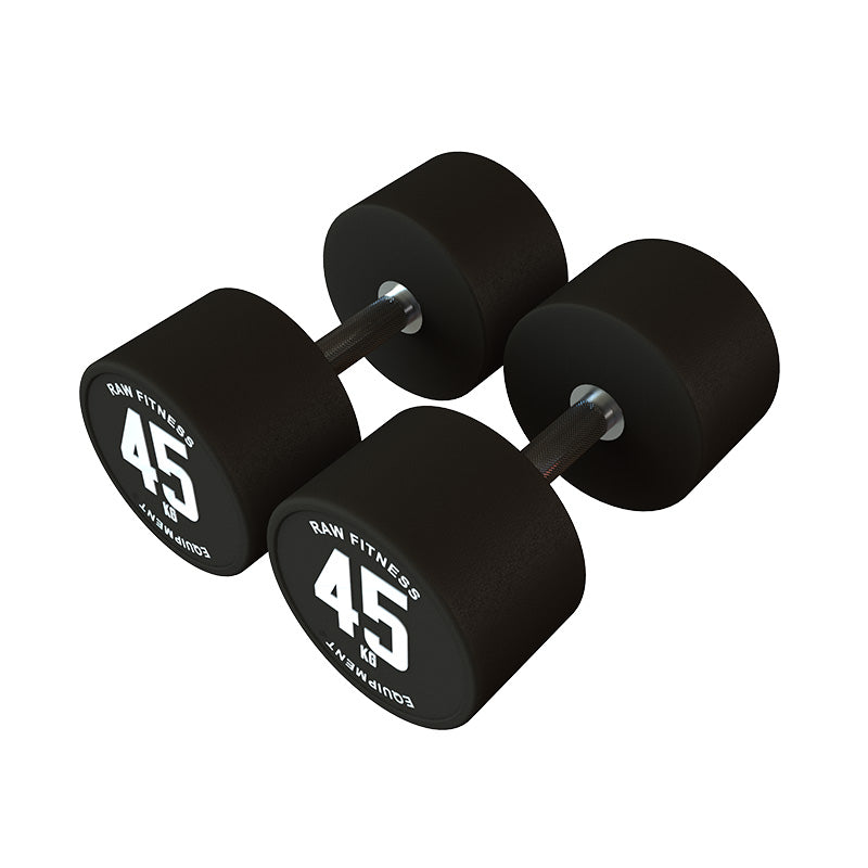 DUMBBELL – CPU ROUND 45KG PAIR - RAW Fitness Equipment