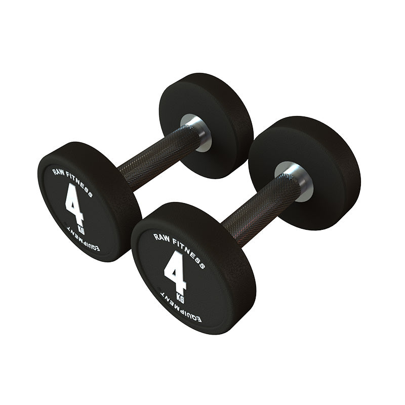 *PREORDER DUMBBELL – CPU ROUND 4KG PAIR - RAW Fitness Equipment