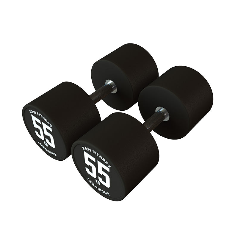 Dumbbell CPU Round - 55KG Pair - RAW Fitness Equipment