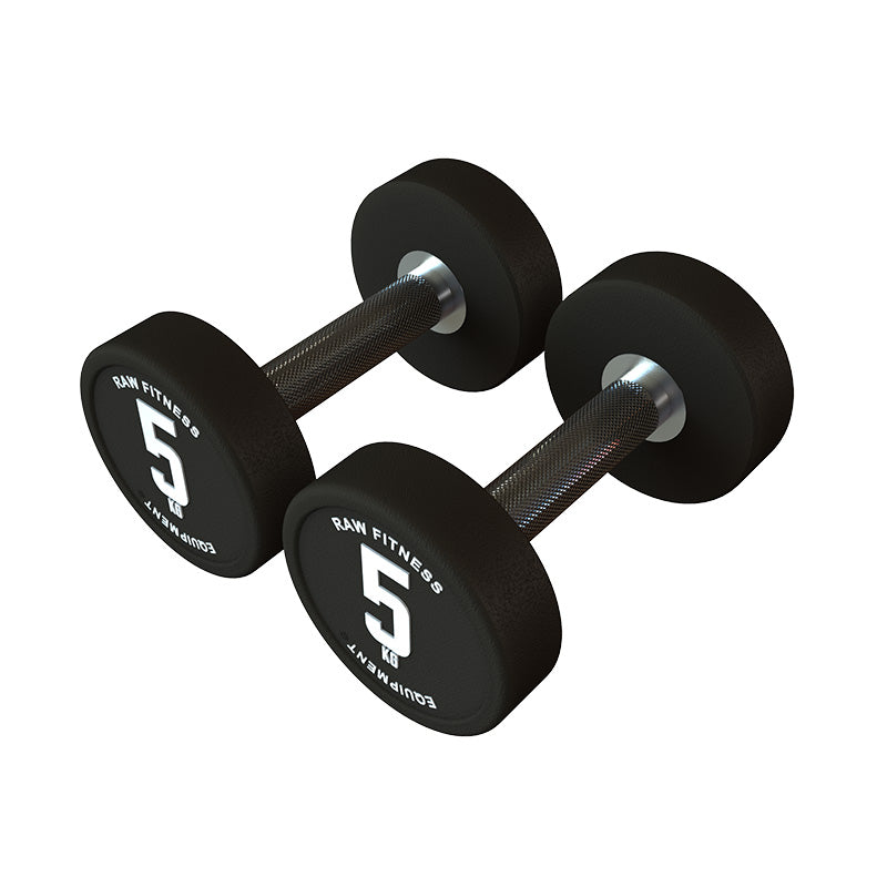 DUMBBELL – CPU ROUND 5KG PAIR - RAW Fitness Equipment