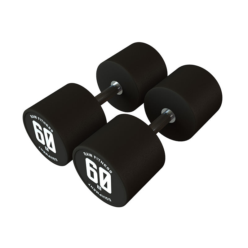 DUMBBELL – CPU ROUND 60KG PAIR - RAW Fitness Equipment