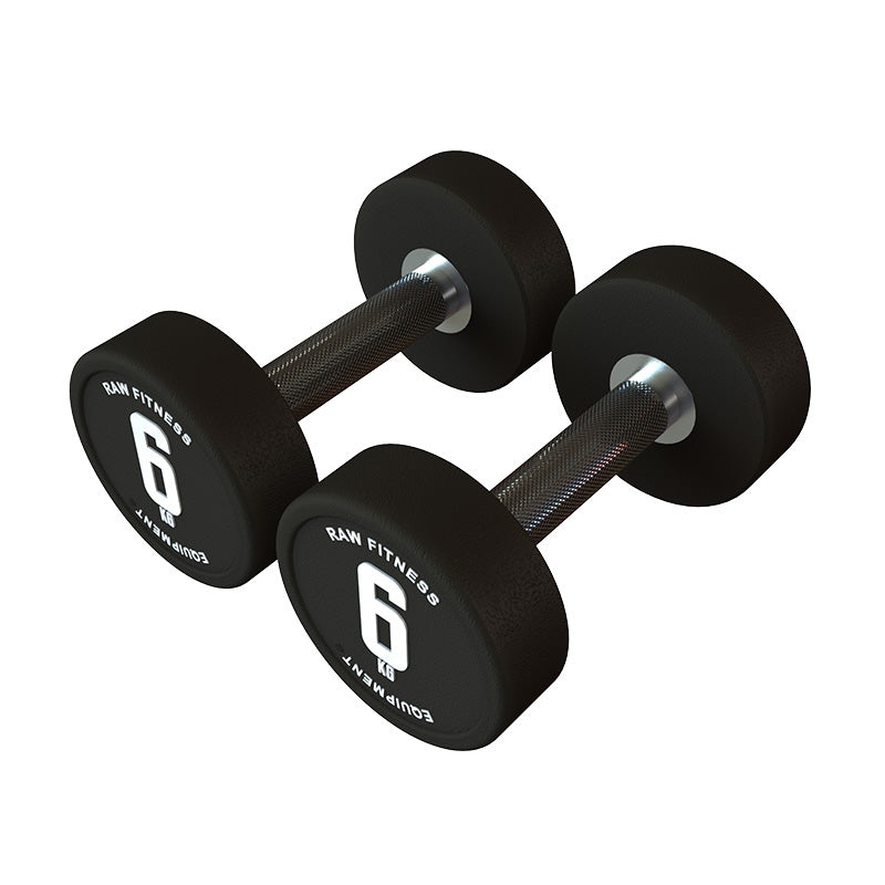 DUMBBELL – CPU ROUND 6KG PAIR - RAW Fitness Equipment