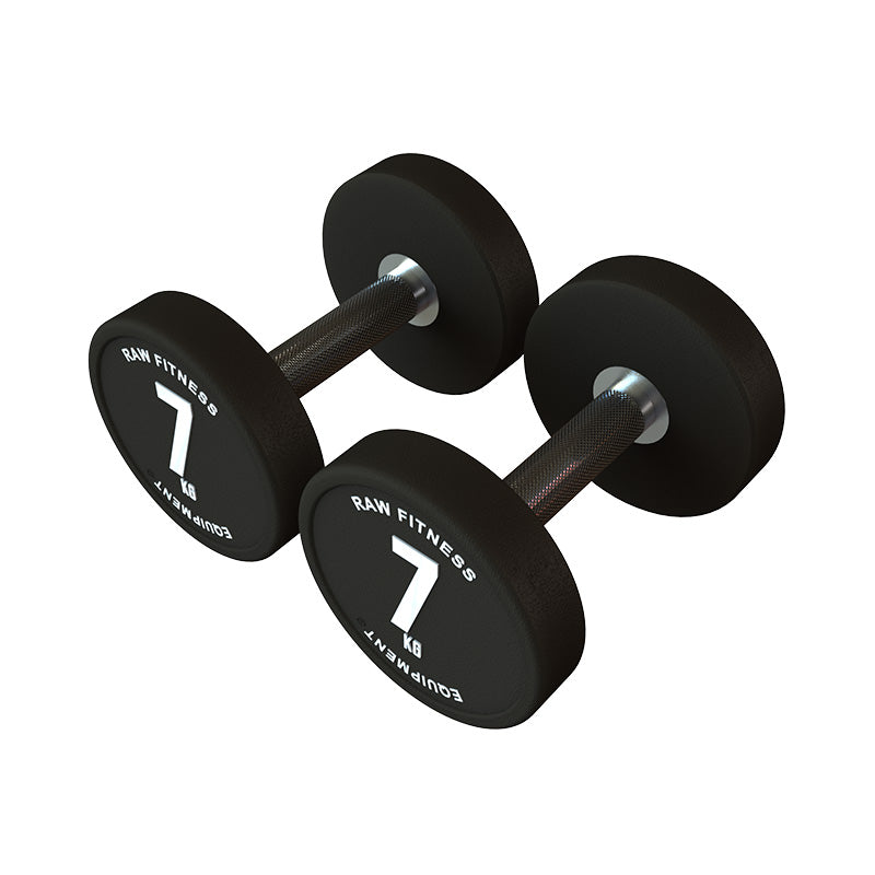 *PREORDER DUMBBELL – CPU ROUND 7KG PAIR - RAW Fitness Equipment