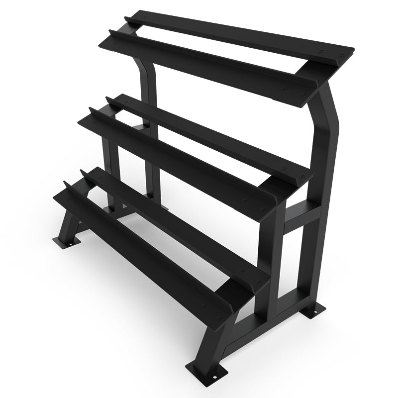 Dumbbell Rubber Hex 3-Tier Rack - RAW Fitness Equipment