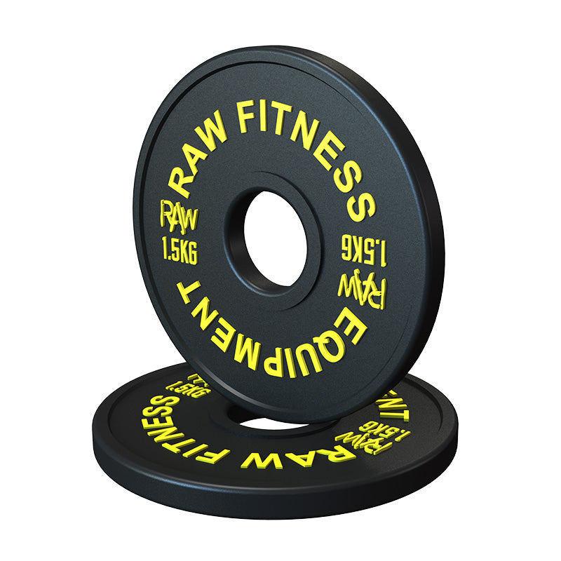Fractional Plate Premium Black - 1.5KG Pair - RAW Fitness Equipment