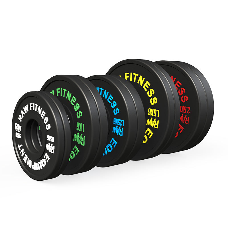 *PREORDER FRACTIONAL PLATES – BLACK 13.50KG SET - RAW Fitness Equipment