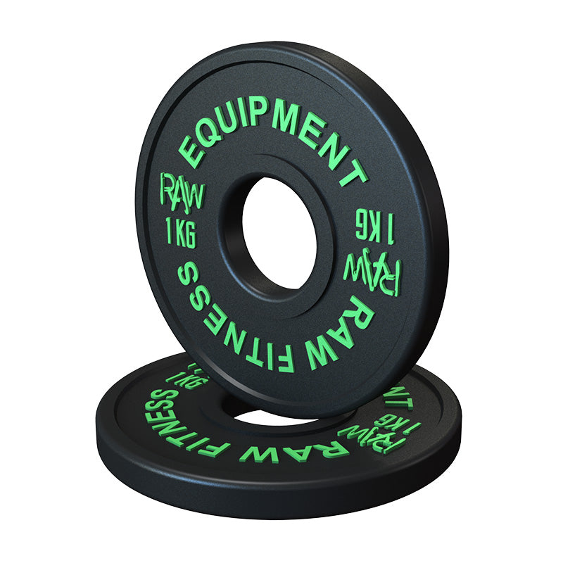 FRACTIONAL PLATES – BLACK 1KG PAIR - RAW Fitness Equipment