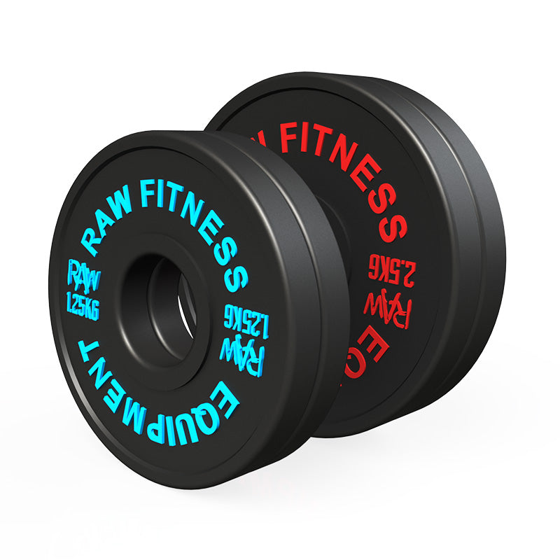 *PREORDER FRACTIONAL PLATES – BLACK 7.50KG SET - RAW Fitness Equipment