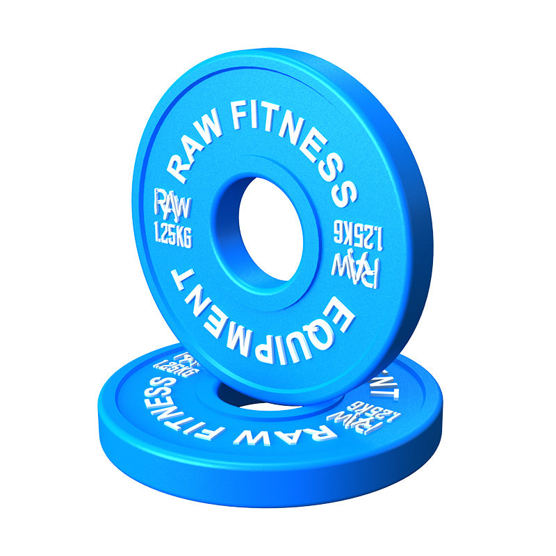 FRACTIONAL PLATES – COLOUR 1.25KG PAIR - RAW Fitness Equipment