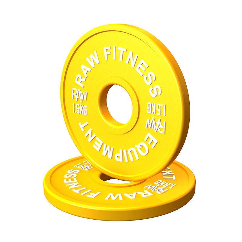 Fractional Plate Premium Colour - 1.5KG Pair - RAW Fitness Equipment