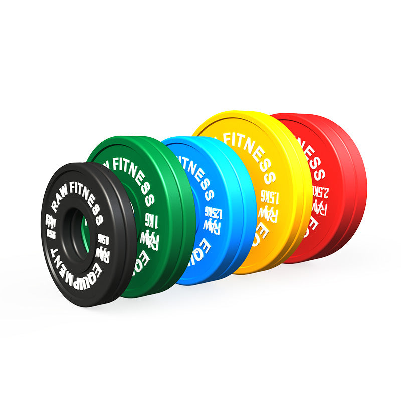 FRACTIONAL PLATES – COLOUR 13.50KG SET - RAW Fitness Equipment