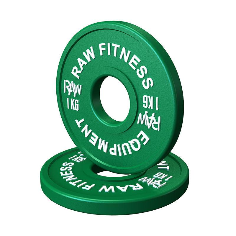 FRACTIONAL PLATES – COLOUR 1.0KG PAIR - RAW Fitness Equipment