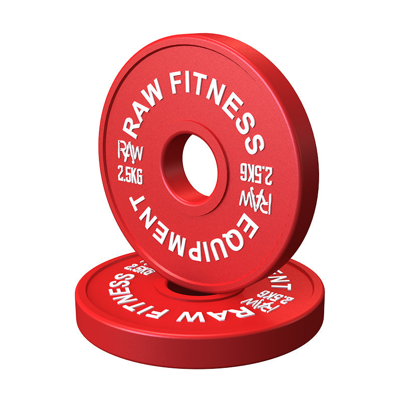 FRACTIONAL PLATES – COLOUR 2.50KG PAIR - RAW Fitness Equipment