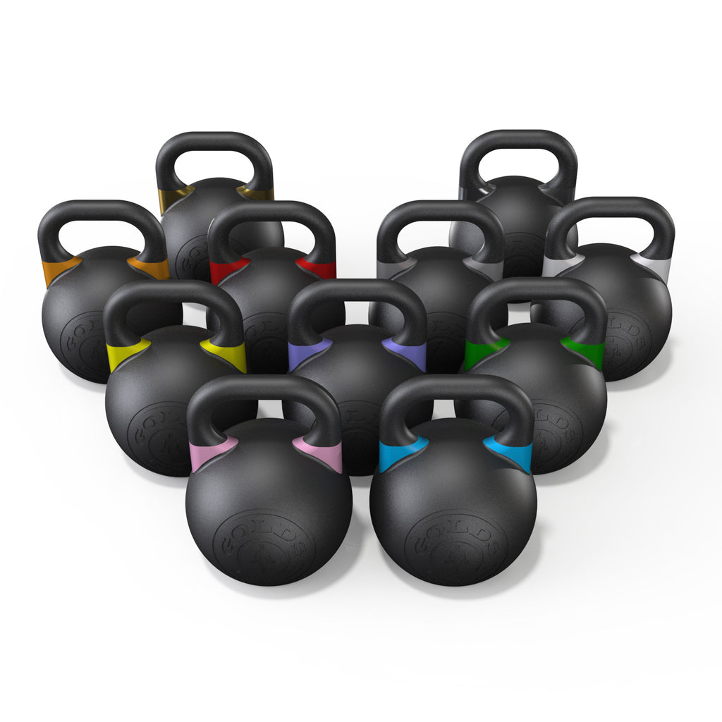 GOLD'S GYM COMPETITION KETTLEBELL - PREMIUM BLACK 20KG - RAW Fitness Equipment
