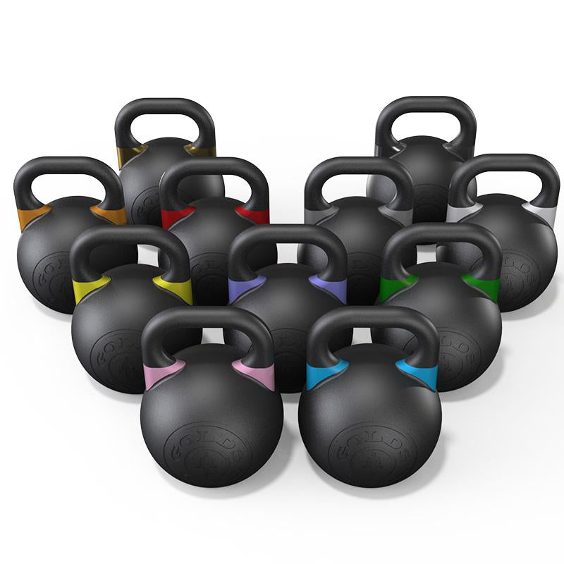 GOLD'S GYM COMPETITION KETTLEBELL - PREMIUM BLACK - 8KG - RAW Fitness Equipment