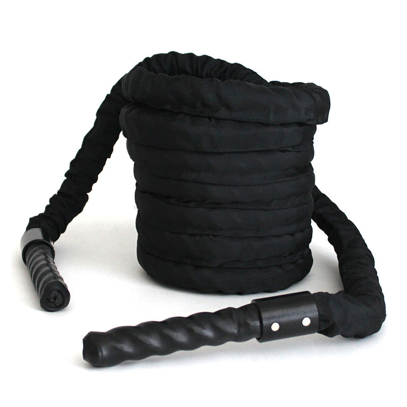POWER / BATTLE ROPE 1.5 INCHES – PREMIUM BLACK - RAW Fitness Equipment