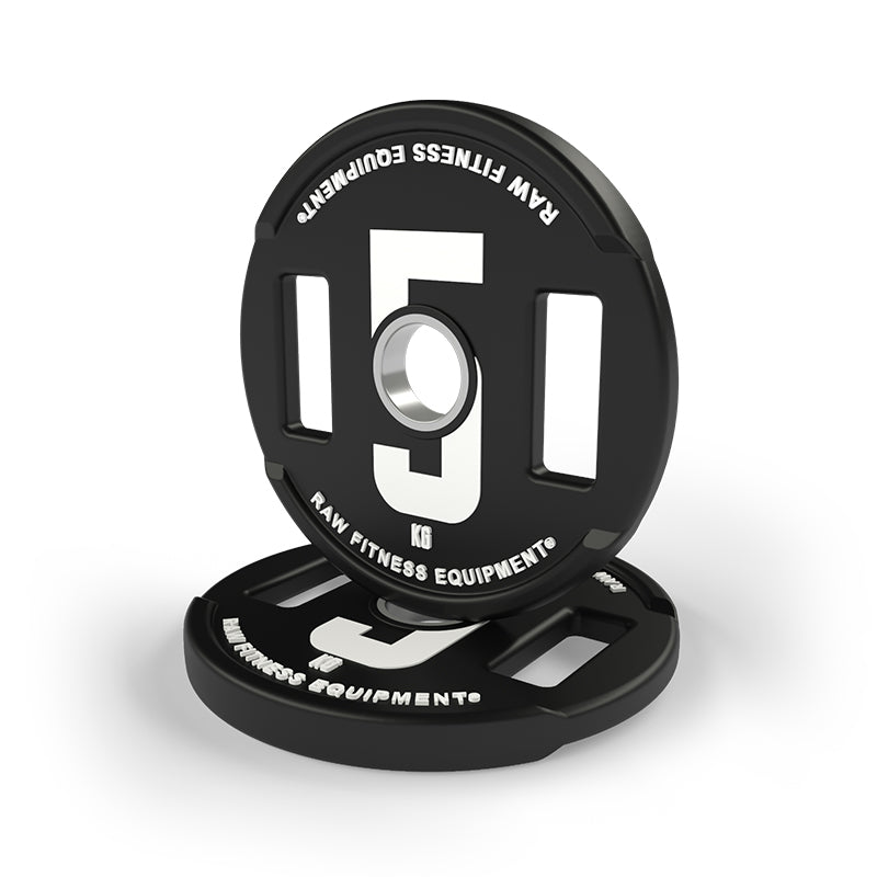 WEIGHT PLATE -  CPU COATED 5KG PAIR - RAW Fitness Equipment