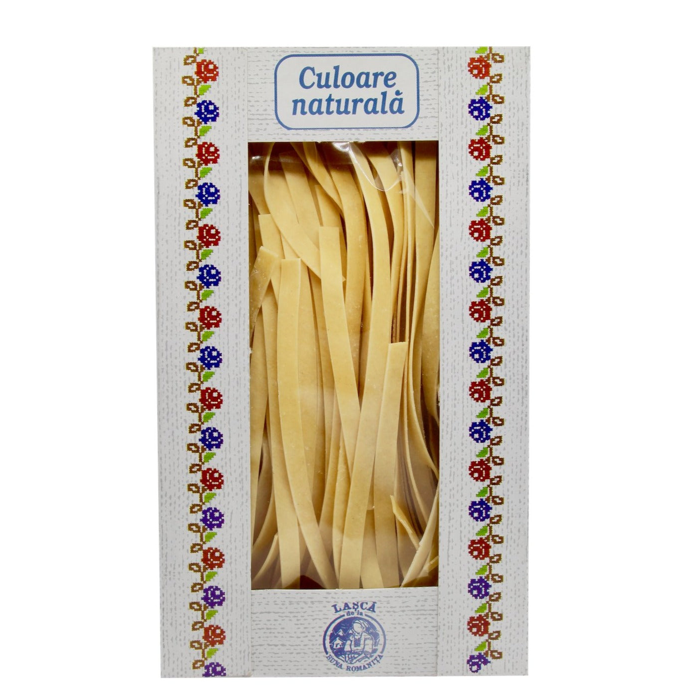 Wide noodles or pasta, Romanian lasca, 200g box - De Mana