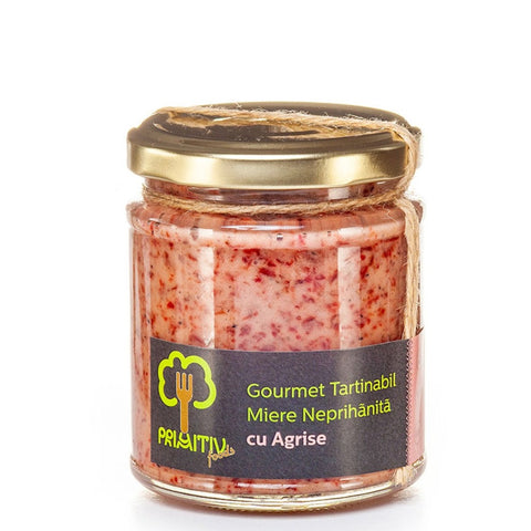 Creamed raw honey with gooseberries 250g - De Mana