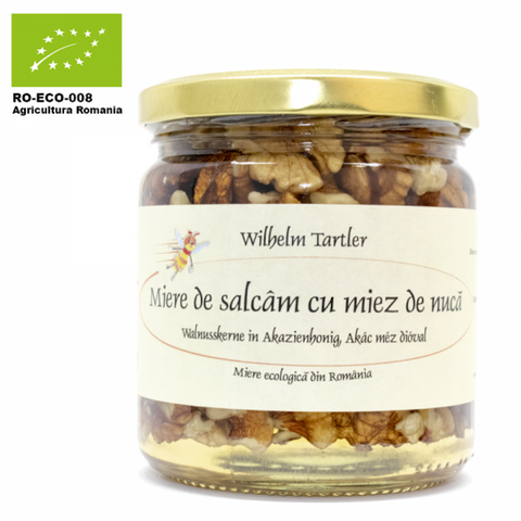 Organic, raw acacia honey & walnuts - De Mana