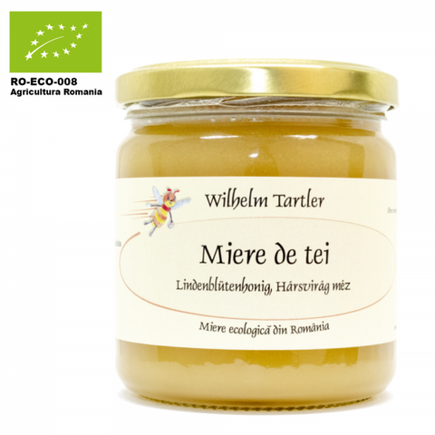 Organic, raw lime blossom honey 250g/500g - De Mana