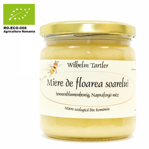 Organic, raw sunflower honey 250g/500g - De Mana