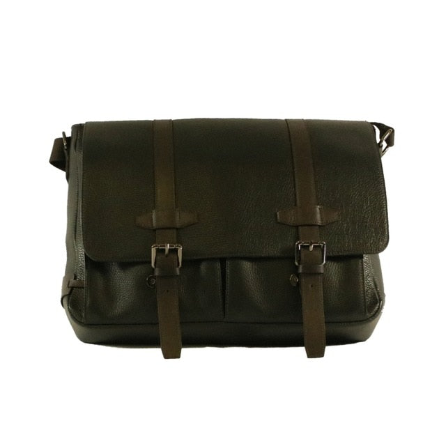 Tan Genuine Leather Messenger style laptop bag
