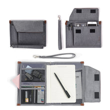 Load image into Gallery viewer, Orange Waterproof Mobile Office Pouch and Organiser