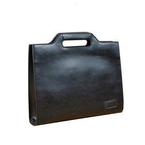 Brown Crazy Horse Vintage Business Bag For Men