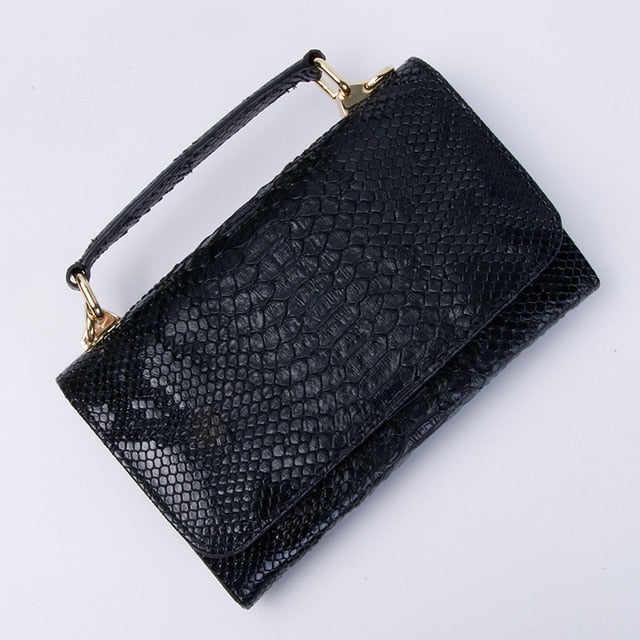 Crocodile-look or Python Snake-look small handBag