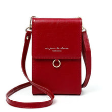 Load image into Gallery viewer, Ladies red mini messenger bag shoulder or cross body bag