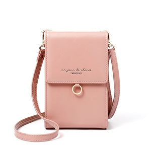 Pink Ladies Small Mini Messenger Shoulder or Cross body Bag