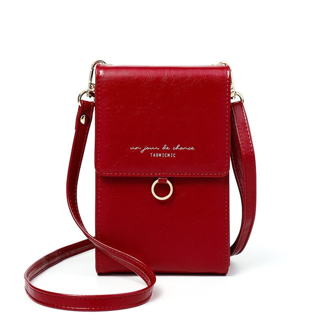 Red Ladies Small Mini Messenger Shoulder or Cross body Bag