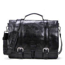 Load image into Gallery viewer, Genuine Leather Laptop Messenger bags