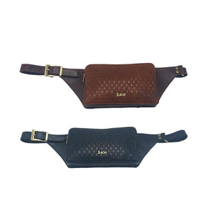 Leather,  Men's Funky cross Waist bag