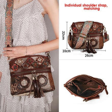 Load image into Gallery viewer, Luxury Vintage Floral Bohemian Ladies bag with Tassels  - crossbody bag