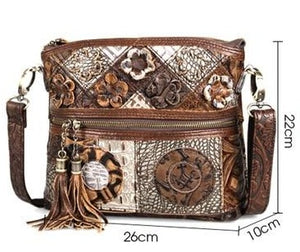 Vintage Cobbler Bohemian Luxury Floral Crossbody Ladies bag with Tassels