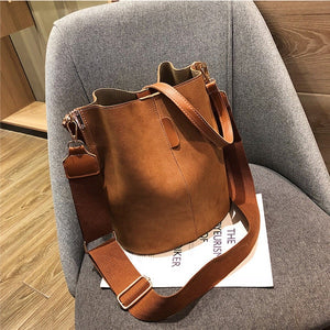 Large Ladies Messenger Bucket Shoulder Bag