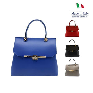 Leather womens bag, classic style