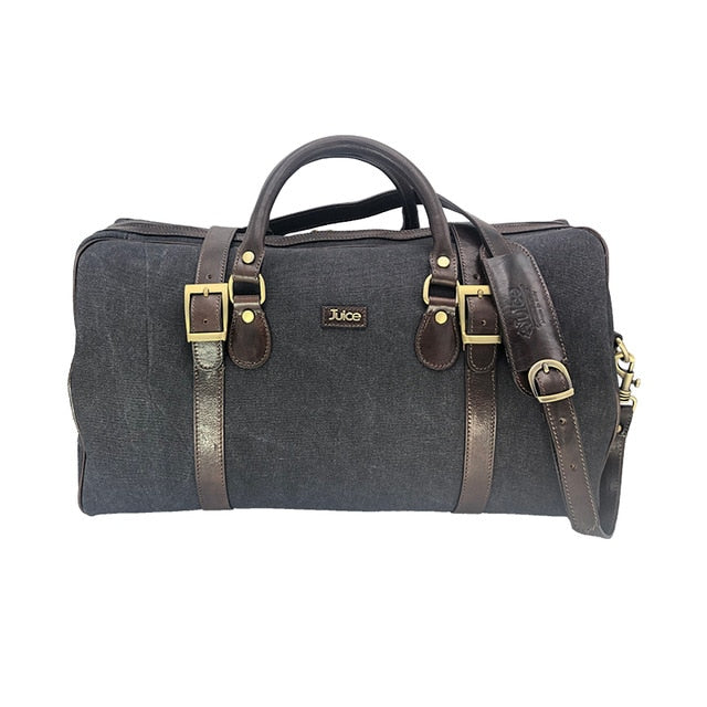 Canvas and leather overnight bag, Duffel Bag
