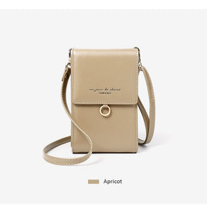 Ladies apricot cream mini messenger bag shoulder or cross body bag