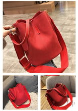 Load image into Gallery viewer, Large Ladies Messenger Bucket Shoulder Bag