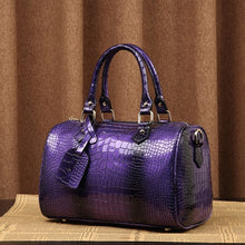 Load image into Gallery viewer, Boston Bag Luxury Ladies Crocodile Pattern Hand Bag