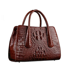 Load image into Gallery viewer, Ladies Luxury Leather bag with Crocodile pattern