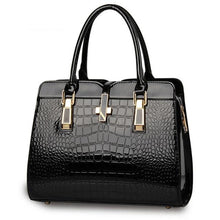 Load image into Gallery viewer, Stunning Navy Blue Ladies Bag,  European Style with Crocodile Pattern