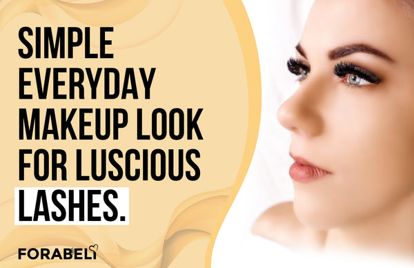 Simple Everyday Makeup Look for Luscious Lashes
