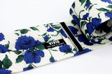 Emerald Green and Blue on the Off White Floral Tie Liberty London Vivid clothing Toronto